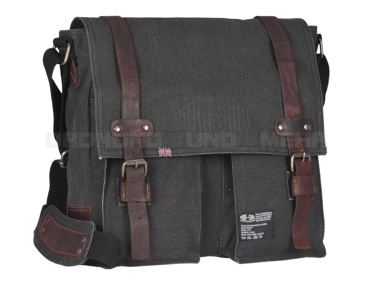 Pride and Soul Tasche MC FLY in Canvas mit Lederbesatz