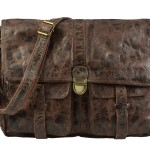 BILLY THE KID Tasche Leder Umhängetasche Messenger MARK - chocolate
