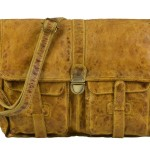 BILLY THE KID Tasche Leder Umhängetasche Messenger MARK - honey