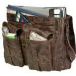 BILLY THE KID Tasche Leder Umhängetasche Messenger MARK - offen
