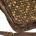 Billy the Kid Leder Clutch mit Nieten Flap - Detail