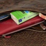 Billy the Kid Leder Clutch mit Nieten Flap - Detail 2