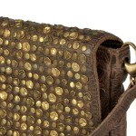 Billy the Kid Leder Clutch mit Nieten Flap - Nieten