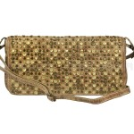 Billy the Kid Leder Clutch mit Nieten Flap stylish in 5 Farben - dust