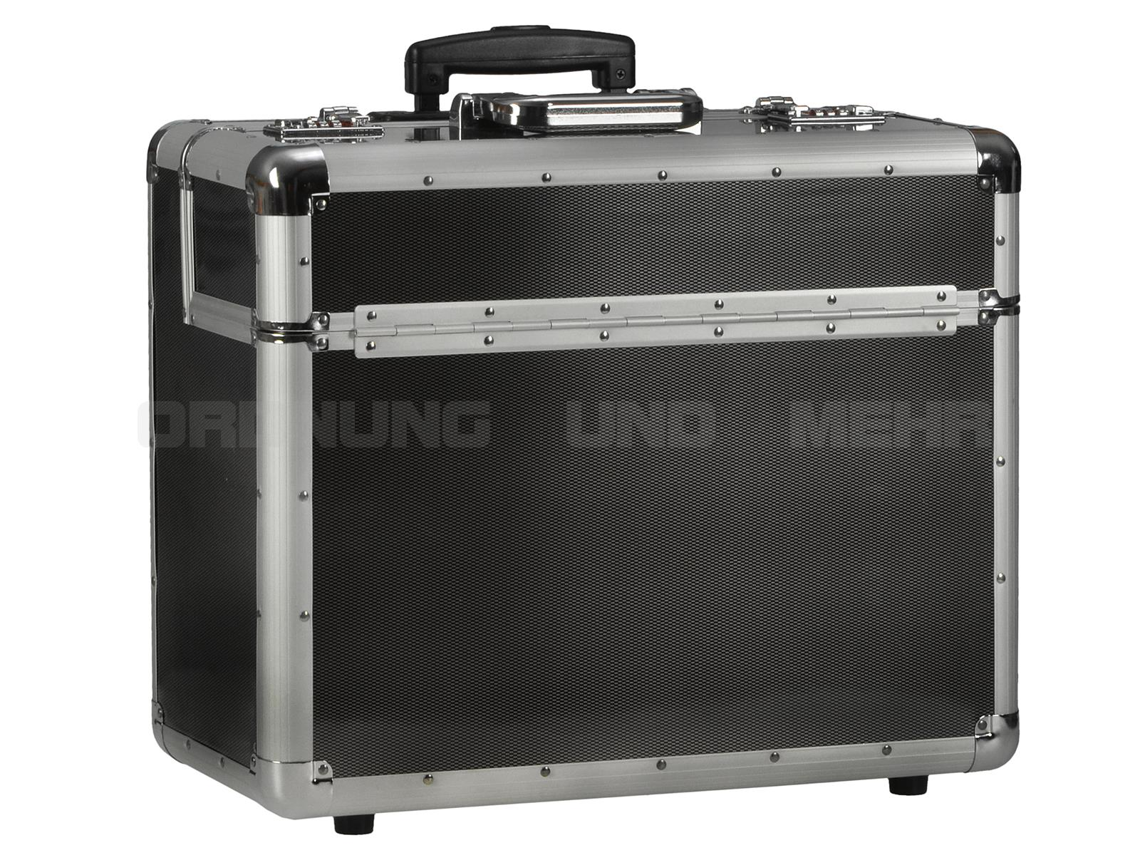 Alumaxx Business Trolley ALU Pilotenkoffer im silber-carbon Look
