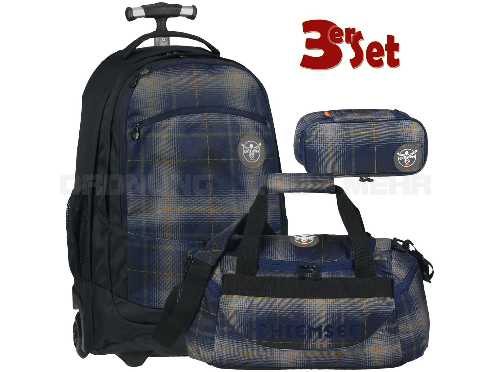 Chiemsee Wheely Schultrolley Set Plaid Peacoat 5070005-H0541-S
