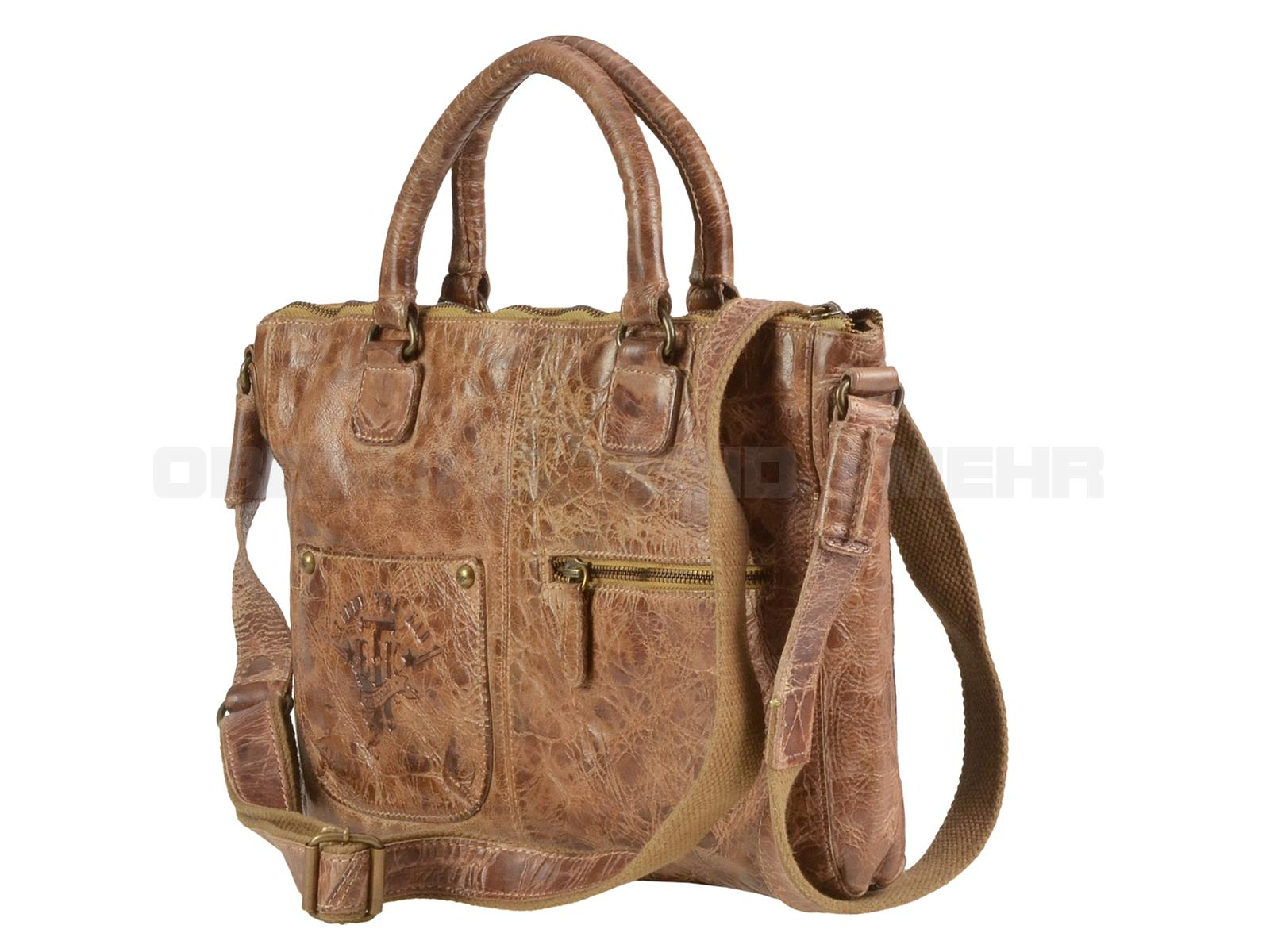 Billy the Kid Leder Shopper Damen in Multicolor M422-77 - Rückseite