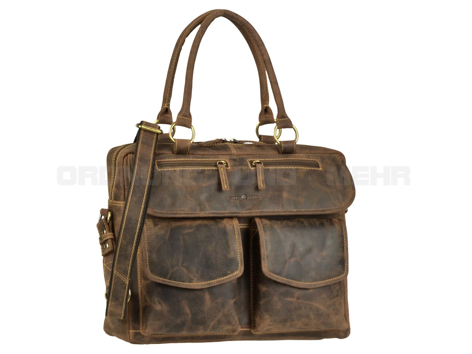 Greenburry Business Ledertasche für Damen 1830-25 aus der VINTAGE Serie in antikbraun
