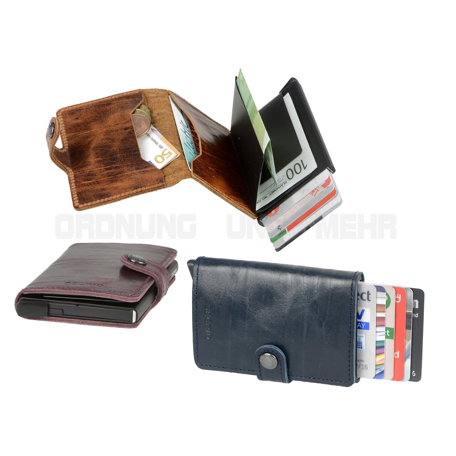 Neue SECRID Miniwallets in DUTCH MARTIN Leder