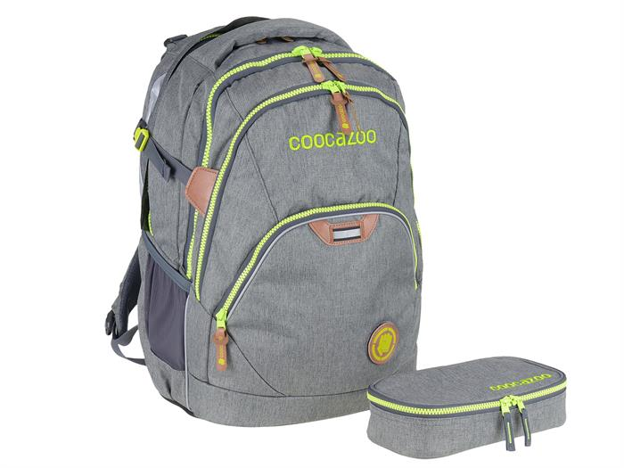 Coocazoo Schulrucksack MatchPatch EvverClevver Sonderedition Darkgrey Melange Set 138689