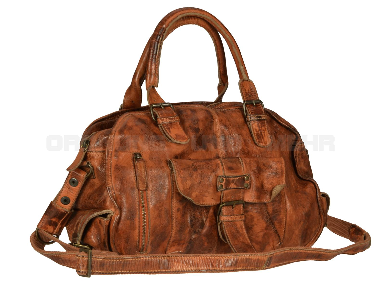 Billy the Kid Ledertasche Handtasche für Damen in cognac