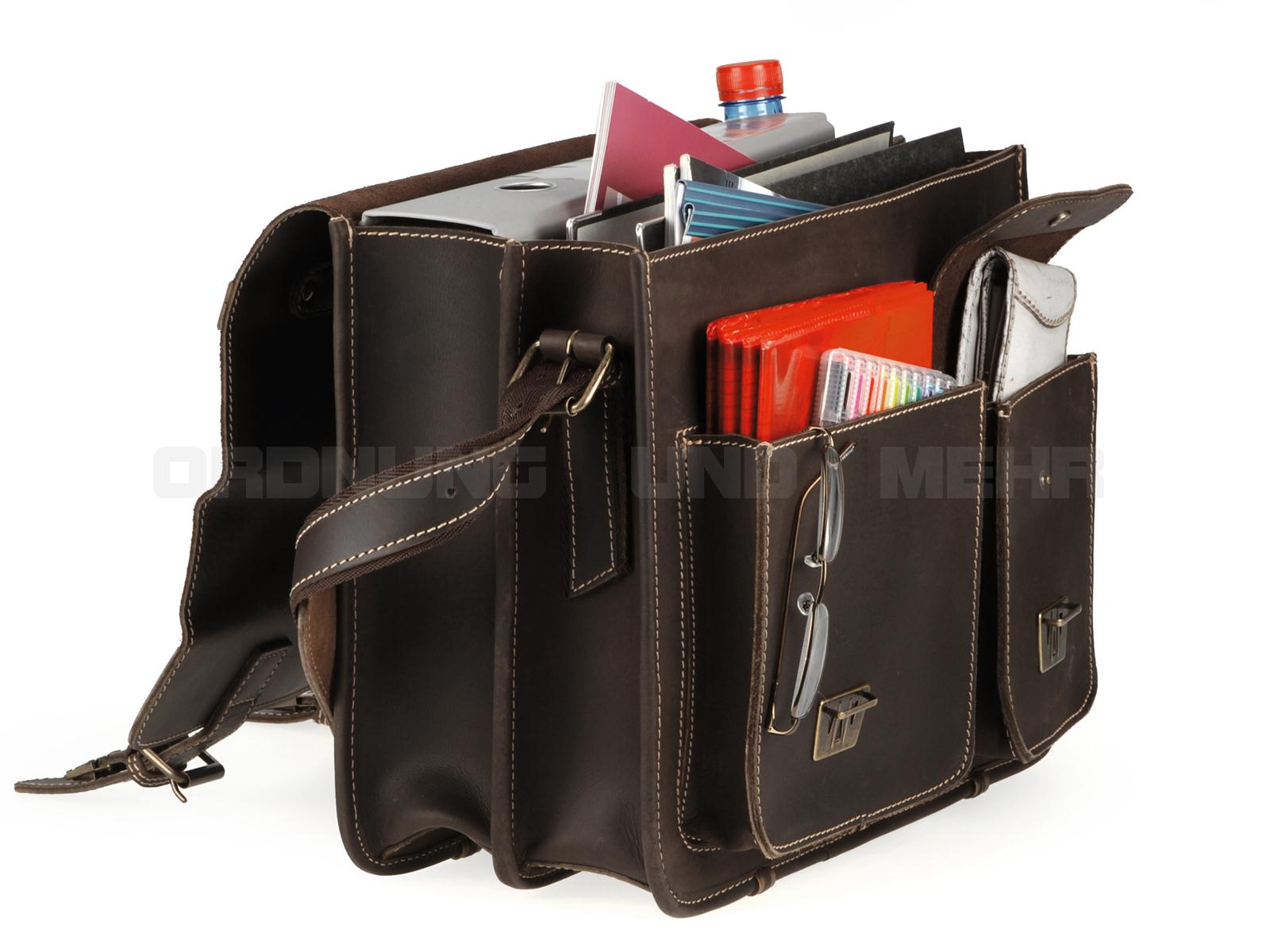Greenburry Buffalo XL Lehrertasche Modell 1028 in tabak