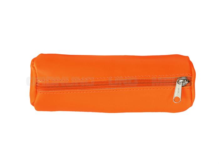 OwnStuff Leder Stiftetui in neon orange