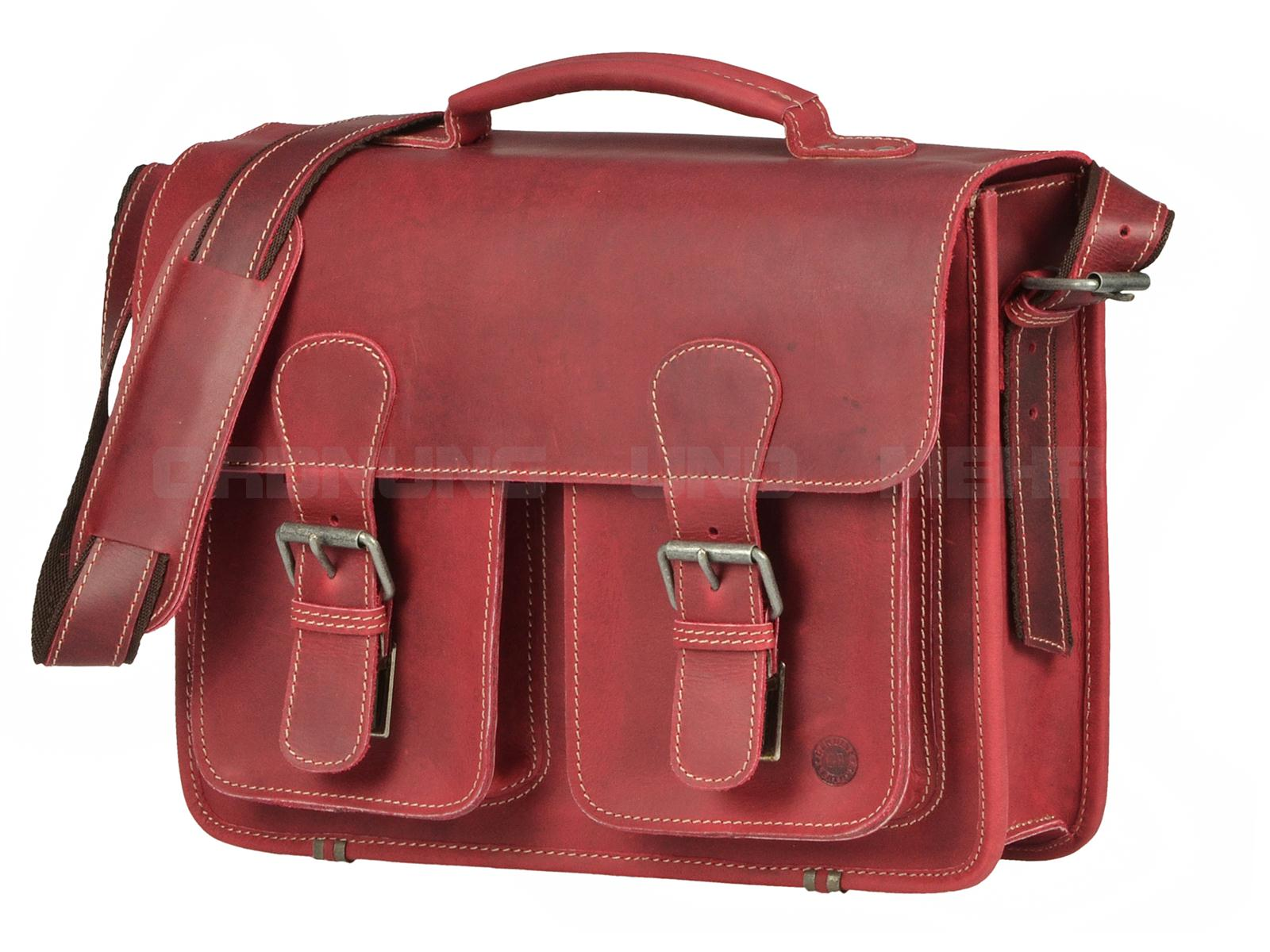 Greenburry Buffalo Ledertasche rot 1000