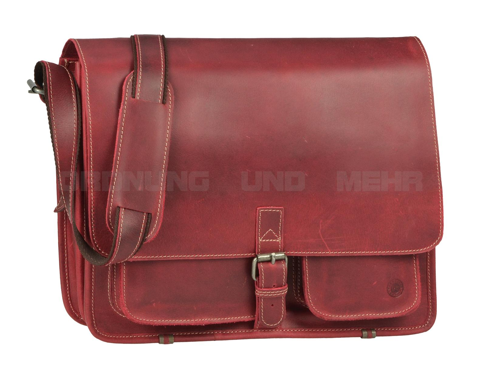 Greenburry Buffalo Ledertasche rot 1003