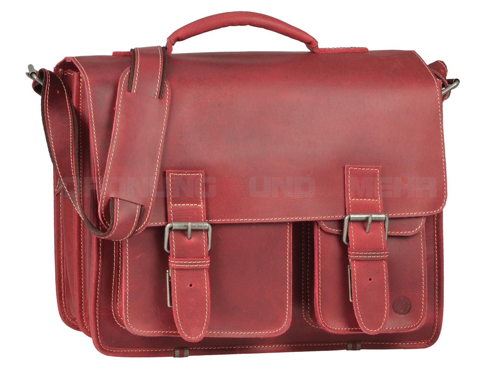 Greenburry Buffalo Ledertasche rot 1028