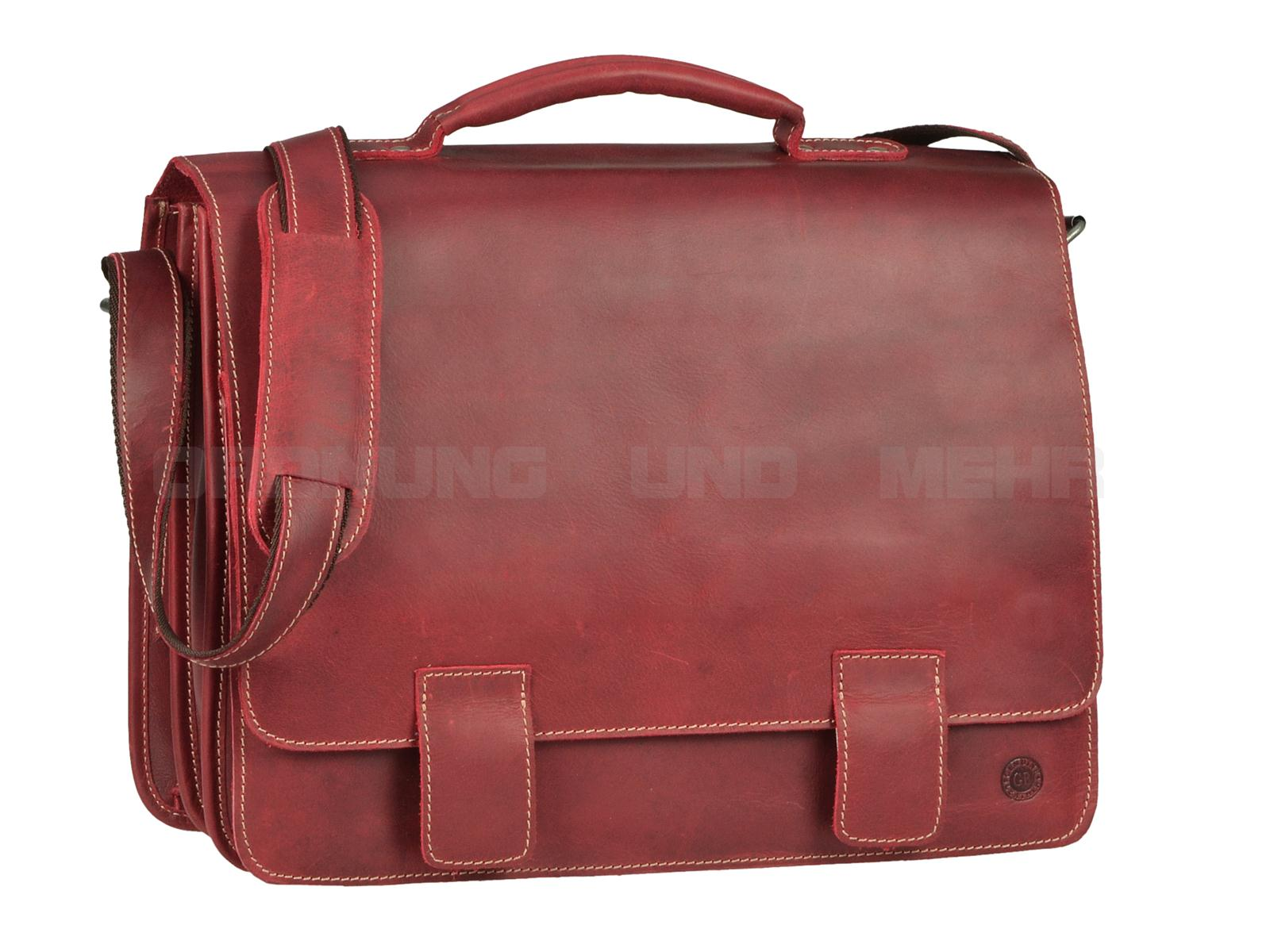 Greenburry Buffalo Ledertasche rot 1029