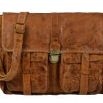 BILLY THE KID Tasche Leder Umhängetasche Messenger MARK - berry