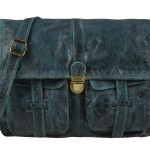 BILLY THE KID Tasche Leder Umhängetasche Messenger MARK - petrol