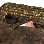 Billy the Kid Leder Clutch mit Nieten Flap - Rückseite