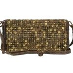 Billy the Kid Leder Clutch mit Nieten Flap stylish in 5 Farben - chocolate