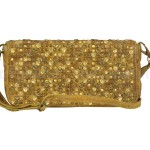 Billy the Kid Leder Clutch mit Nieten Flap stylish in 5 Farben - honey