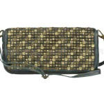Billy the Kid Leder Clutch mit Nieten Flap stylish in 5 Farben - petrol