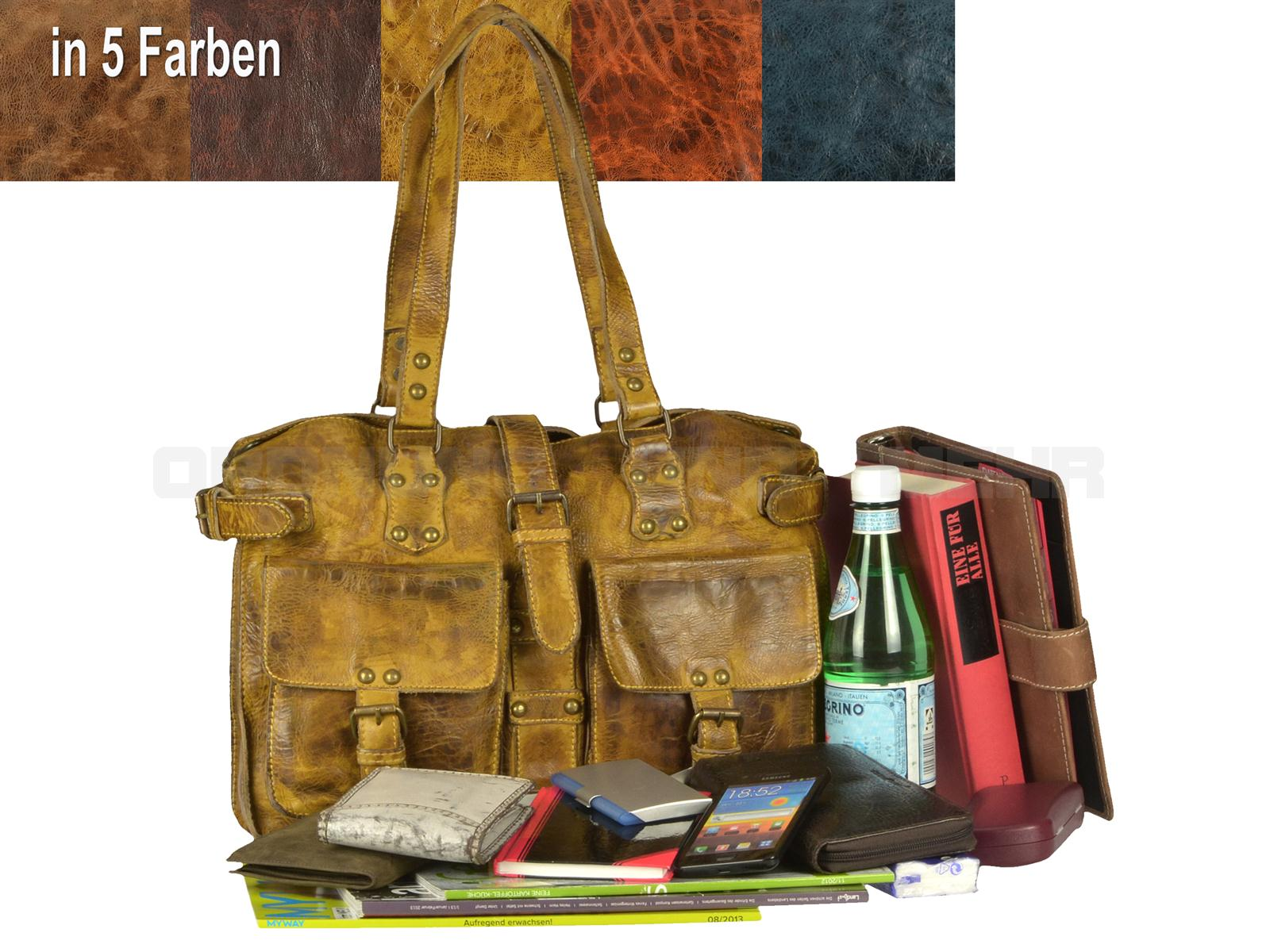 Modische Damentaschen aus Leder BILLY THE KID Modell KATE Damen Handtasche Shopper Damentasche