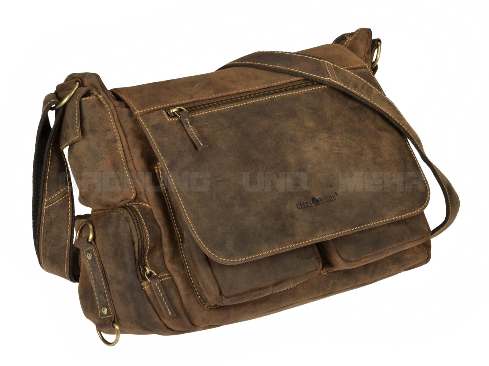 Coole Ledertaschen - der Greenburry Fishing Bag 1763A-25 Vintage rustikal antikbraunCoole Ledertaschen - der Greenburry Fishing Bag 1763A-25 Vintage rustikal antikbraun
