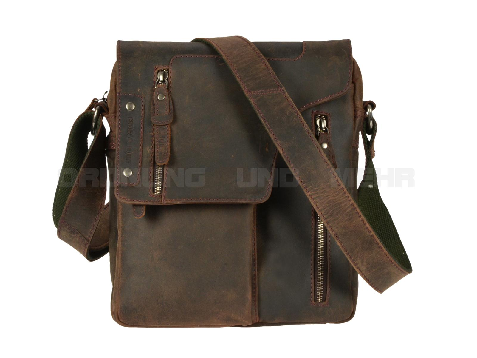Coole Ledertaschen - der Greenburry Revolver Bag 1965-22 aus der Vintage Revival Serie in antikbraun