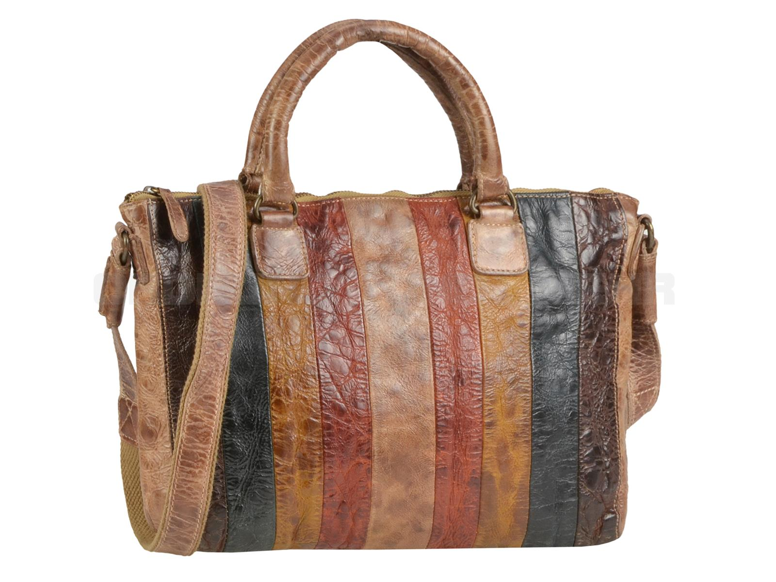 Billy the Kid Leder Shopper Damen in Multicolor M422-77