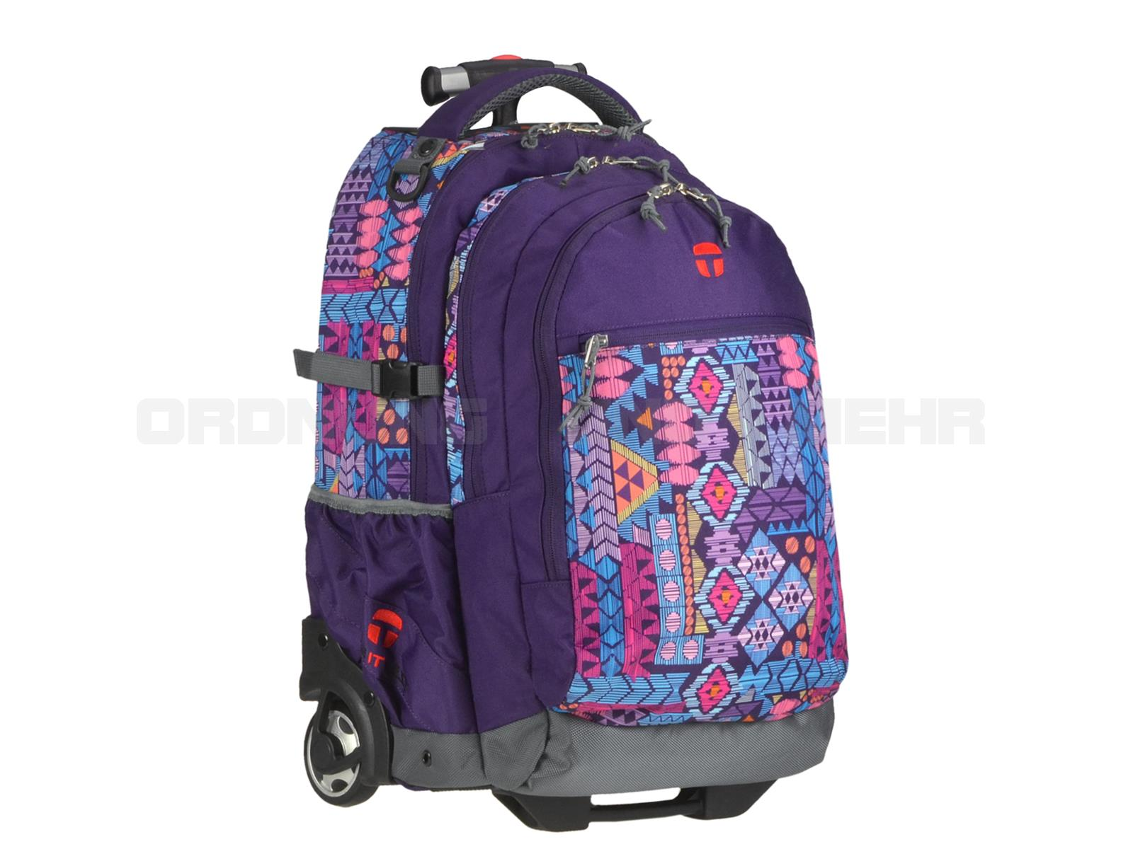 Take it Easy Rucksack Trolley AZTEC in lila bunt 28045-499-059