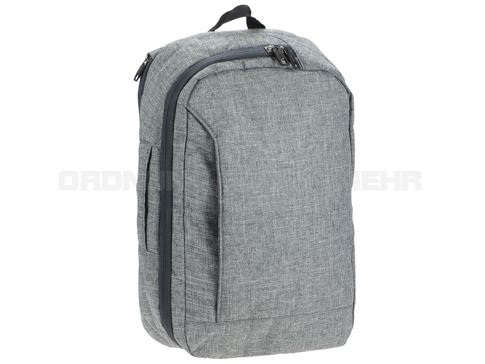 Moderne Business Rucksack mit Notebookfach in grau meliert