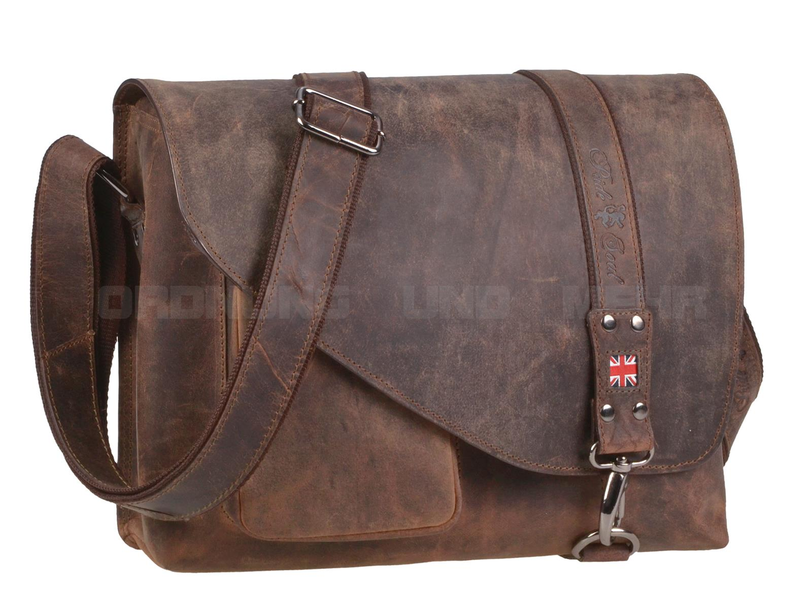 Pride and Soul Leder Umhängetasche in antik braun 47144