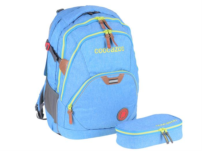 Coocazoo Schulrucksack MatchPatch EvverClevver Skyblue Melange Set Sonderedition 138693